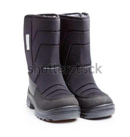Kids snow boots isolated Stock photo © Supertrooper
