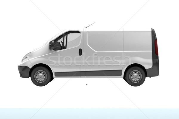White commercial van isolated Stock photo © Supertrooper