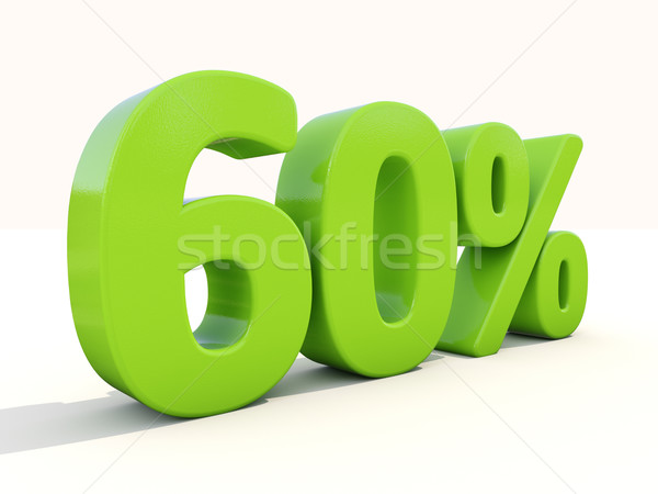 Stockfoto: 60 · percentage · icon · witte · zestig