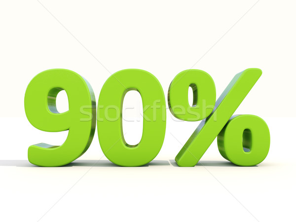 90% percentage rate icon on a white background Stock photo © Supertrooper