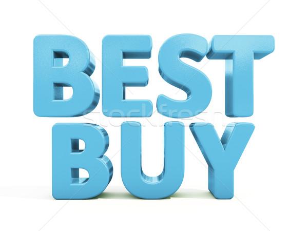 3D лучший купить икона белый 3d иллюстрации Сток-фото © Supertrooper