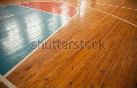 Cancha de baloncesto primer plano reflexión deportes deporte fitness Foto stock © Supertrooper