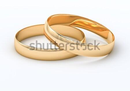 Alliances lumière réflexions mariage mariage bijoux Photo stock © Supertrooper