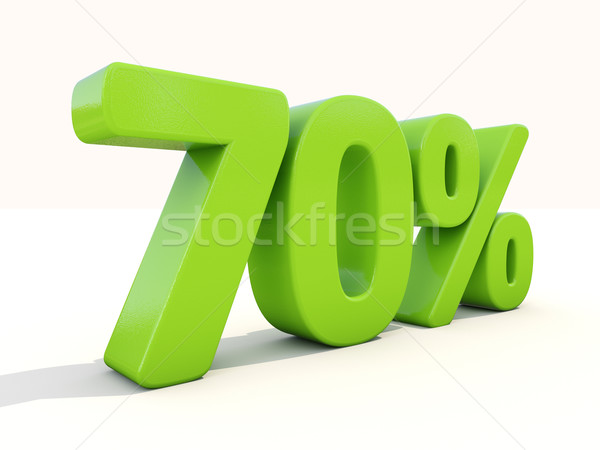 70% percentage rate icon on a white background Stock photo © Supertrooper