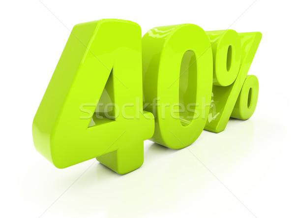 3D quarante pour cent réduction 40 Photo stock © Supertrooper