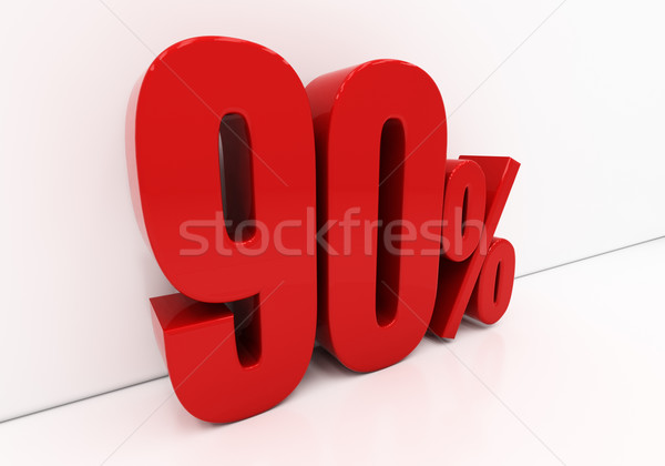 3D 90 percent  Stock photo © Supertrooper