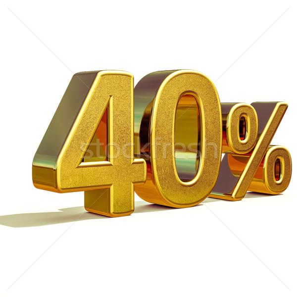 3D 金 40 40 パーセント 割引 ストックフォト © Supertrooper