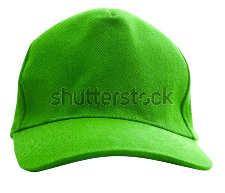 A green baseball cap is isolated Stock photo © Supertrooper