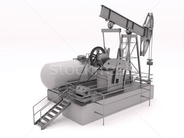 Olajfúró torony izolált vezetés dugattyú pumpa olajkút Stock fotó © Supertrooper