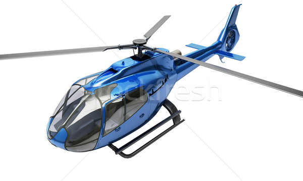 Moderne helikopter geïsoleerd Blauw witte geneeskunde Stockfoto © Supertrooper