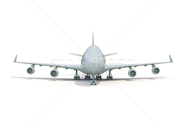 Plane on white Stock photo © Supertrooper