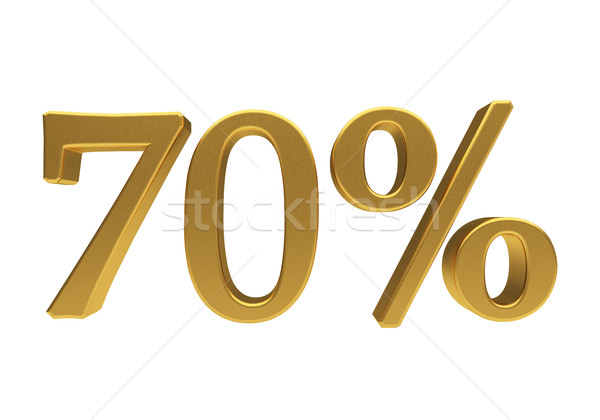 3D 70 percent isolated Stock photo © Supertrooper