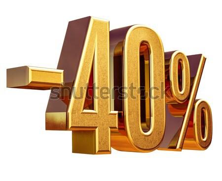 золото 40 минус сорок процент скидка Сток-фото © Supertrooper