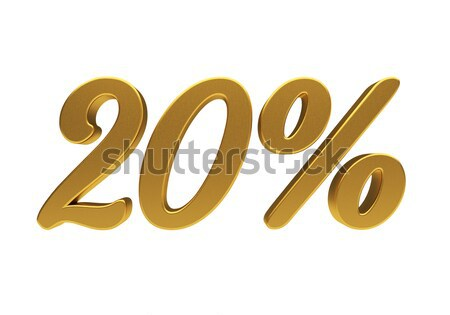 3D 20 percent isolated Stock photo © Supertrooper