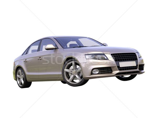 Modern luxury car isolated Stock photo © Supertrooper