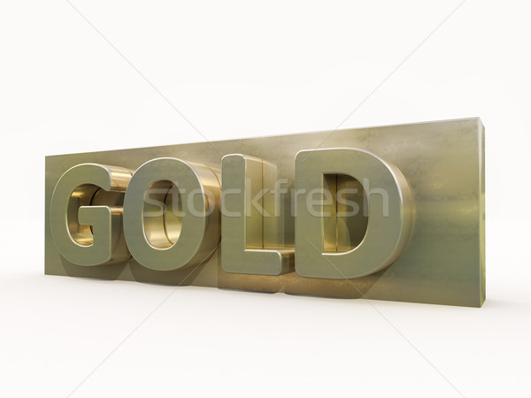 Gold icon Stock photo © Supertrooper