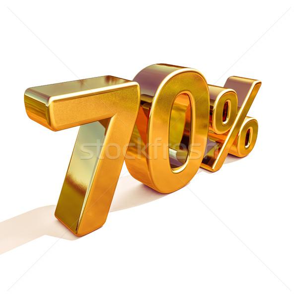 3d Gold 70 Seventy Percent Discount Sign Stock photo © Supertrooper