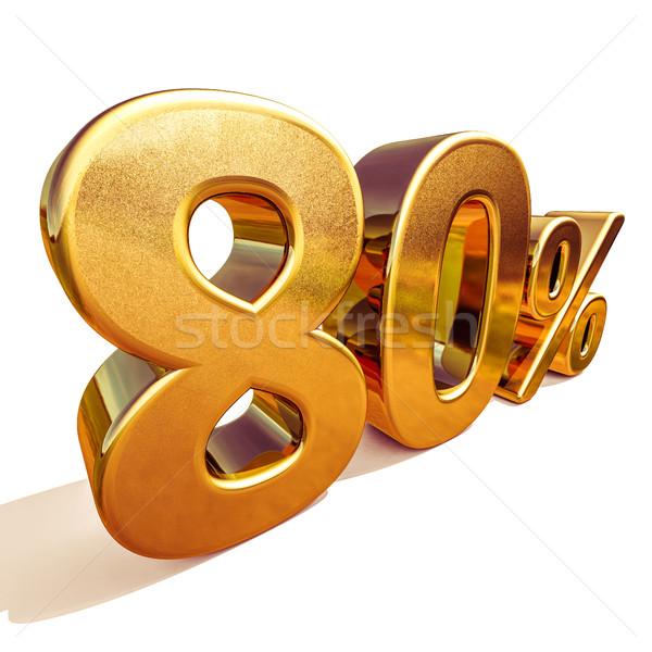 3D 金 80 80 パーセント 割引 ストックフォト © Supertrooper