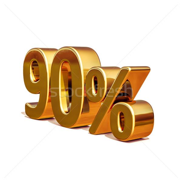3D 金 パーセント 割引 にログイン 販売 ストックフォト © Supertrooper