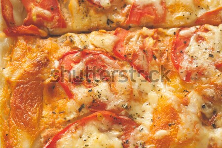 Pizza close up Stock photo © Supertrooper