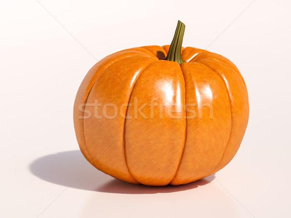Cadılar bayramı kabak beyaz bütün taze halloween turuncu Stok fotoğraf © Supertrooper