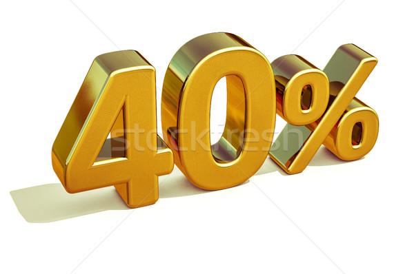 3D or 40 quarante pour cent réduction Photo stock © Supertrooper