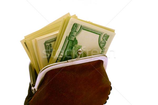 Purse full of dollars Stock photo © Supertrooper