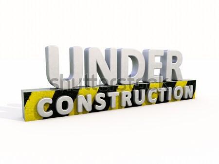 Costruzione segno isolato bianco business costruzione Foto d'archivio © Supertrooper