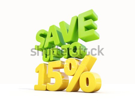 Save up to 15% Stock photo © Supertrooper