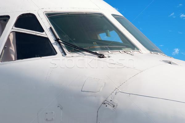 кокпит современных самолета небе тело Сток-фото © Supertrooper