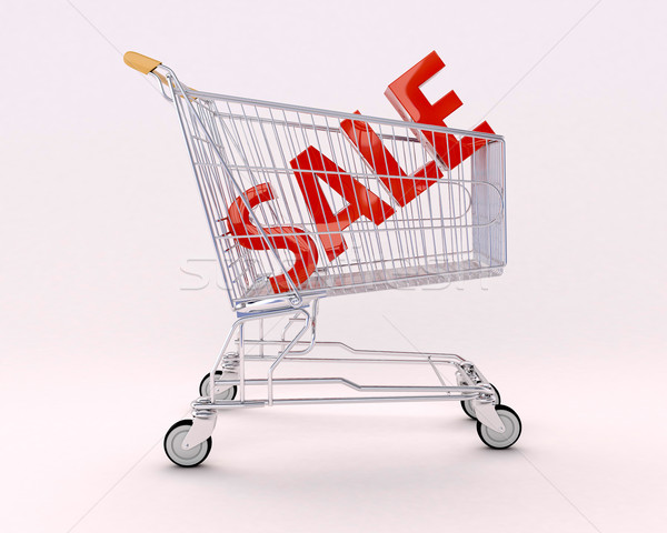 Cart for purchases and sale Stock photo © Supertrooper