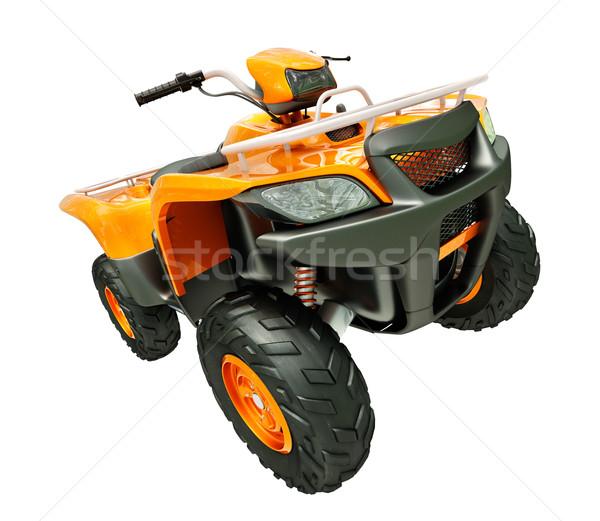 Quad bike isolated Stock photo © Supertrooper