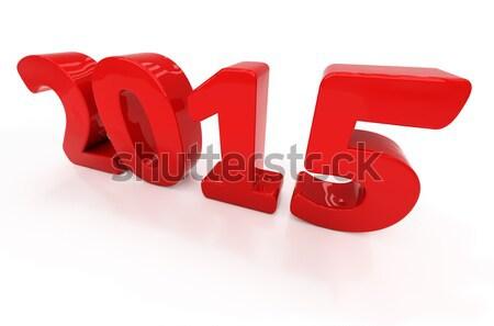 új 2015 év 3D grafika fényes Stock fotó © Supertrooper