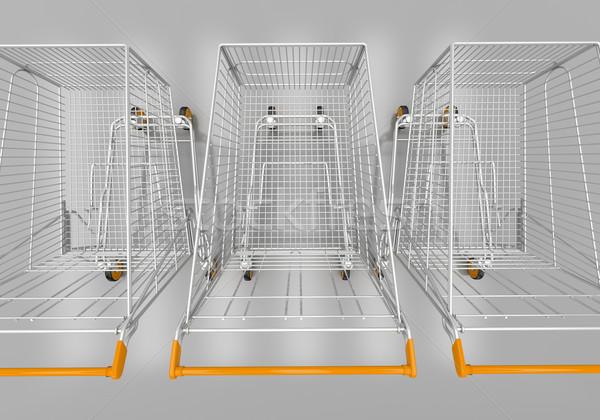 Shopping cart Stock photo © Supertrooper