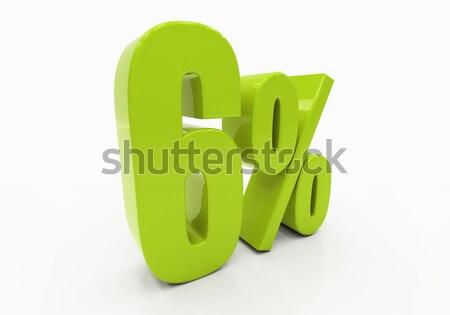 Pourcentage signe 3D réduction isolé blanche Photo stock © Supertrooper