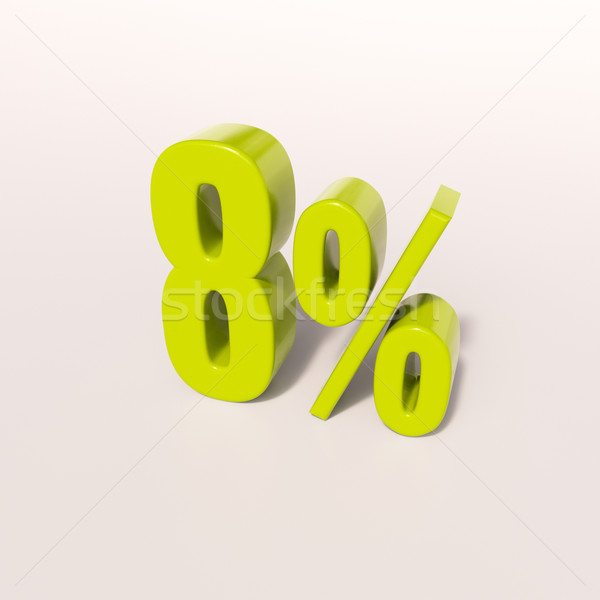 Percentage sign, 8 percent Stock photo © Supertrooper