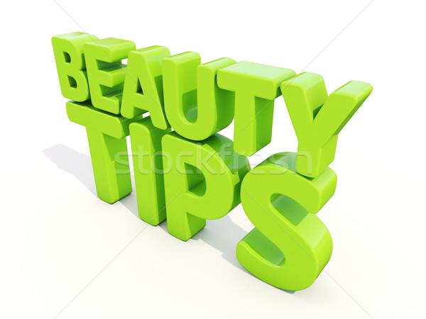 3D belleza consejos blanco 3d moda Foto stock © Supertrooper