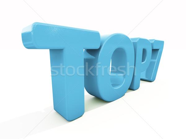 Stock fotó: 3D · felső · ikon · fehér · 3d · illusztráció · levelek