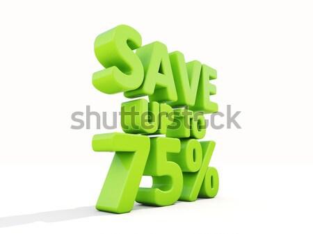 Opslaan omhoog 15 markt voorraad Stockfoto © Supertrooper