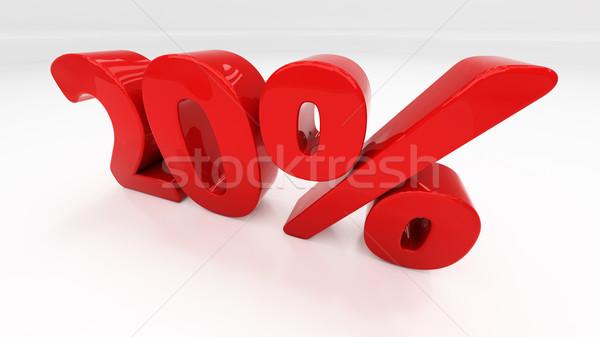 Foto stock: 3D · vinte · por · cento · desconto · 20