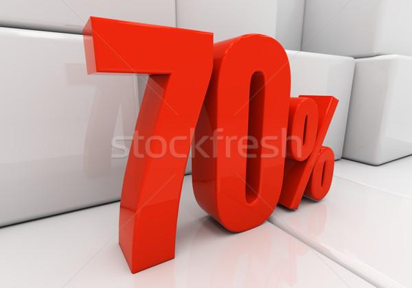 3D 70 percent Stock photo © Supertrooper