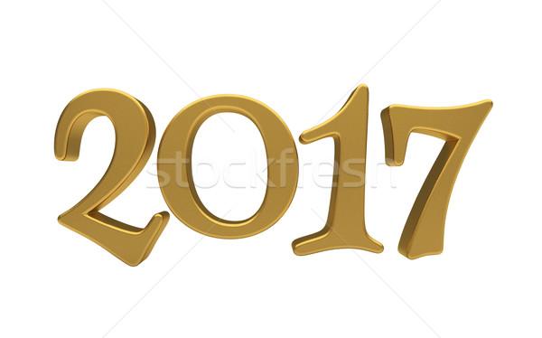 Arany izolált új év 3d szöveg fehér Stock fotó © Supertrooper