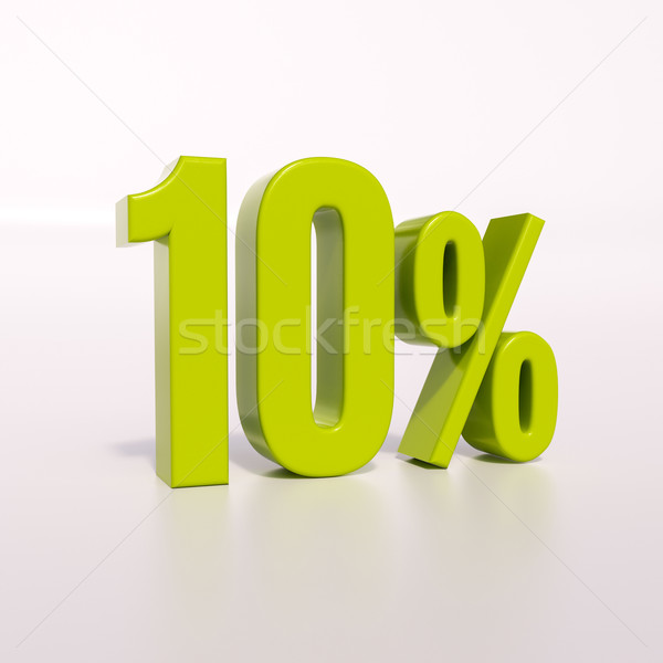 Percentage sign, 10 percent Stock photo © Supertrooper