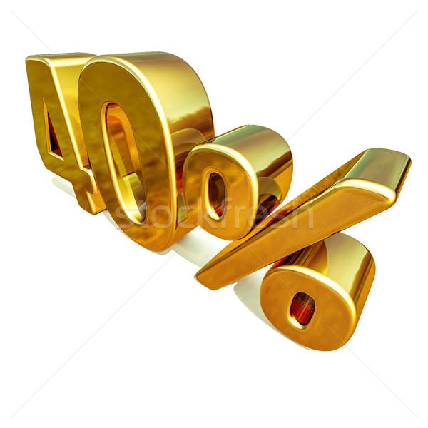 3D złota 40 czterdzieści procent zniżka Zdjęcia stock © Supertrooper