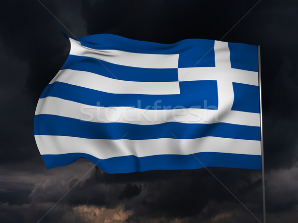 Flag of Greece Stock photo © Supertrooper