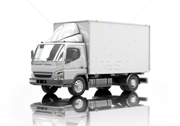 Delivery truck icon with shallow depth of field Stock photo © Supertrooper