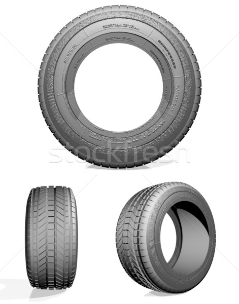 Automobile tire Stock photo © Supertrooper