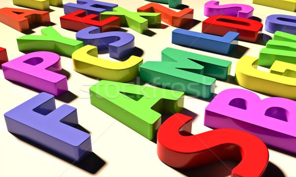 Colore lettere diverso colori luce scuola Foto d'archivio © Supertrooper