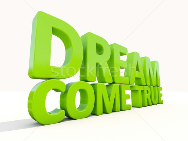 3d phrase dream come true Stock photo © Supertrooper