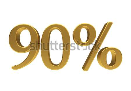 3D 90 percent isolated Stock photo © Supertrooper